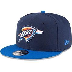 9f4eb5cb7 Men s Oklahoma City Thunder New Era Navy Blue 2-Tone Original Fit 9FIFTY  Adjustable Snapback Hat