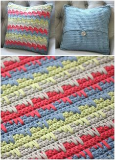 Crochet Reversible Spike Stitch Pillow Cover – Free Pattern - 49 Free Crochet Pillow Patterns for Decorating Your Home - DIY & Crafts
