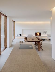 White Interior, Home, Living Room And Kitchen Design, House Rooms, Minimalism Interior, Living Room Interior, Apartment Design, House Interior, Interior Architecture