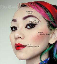 Female Ninja Gaiden Video Game Inspired Makeup | Halloween | Pinterest | Female Ninja