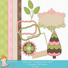 Free Digital Scrapbook Kits: Free Mini Kit ''Happy New Year ''