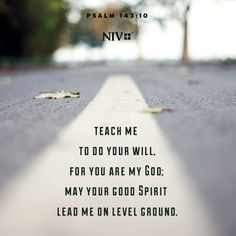 NIV Verse of the Day: Psalm 143:10