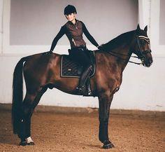 How gorgeous is our new vest Chocolate?!✨ Vest: Chocolate  Saddle pad: Chocolate dressage Bandages: Chocolate Breeches: Ultimate black dressage  Bridle: @xtremehorsemakeover  Boots: @amazonasueca  Photo: @photobyfredrixzon @dressyrbloggen.se #equestrian #equestrians #esstockholm #equestrianstockholm #horse #horses #horsesofinstagram #equestrianfashion