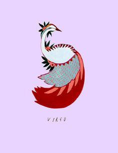 News - September Zodiac - Virgo Virgo Art, Zodiac Art, Zodiac Signs, Virgo Astrology, Astrology Chart, Taurus, Gouache, Family Portrait Drawing, Birthday Postcards