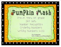 Pumpkin Themed Number Practice