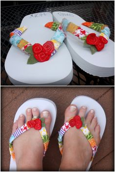 Embellish the Details: Fabric Covered Flip Flop Tutorial