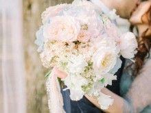 Roze Quartz & Serenity; свадьба в розово-голубых тонах; нежная свадьба; D.Ch.events; букет невесты