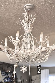 DIY Ideas with Twigs or Tree Branches | Twig chandelier ...
