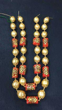 India Jewelry, Emerald Jewelry, Bead Jewellery, Jewelery, Hyderabadi Jewelry, Gold Necklace Simple, Gold Earrings Designs, Jewelry Patterns, Wedding Jewelry