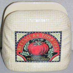 Beefsteak Tomatoes, Rothsville, Pennsylvania - Napkin Holder