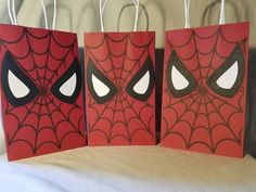 Spiderman Party Favor Bags all of ANY one by PartiesByDezzy Leo Birthday, Avengers Birthday, Superhero Birthday Party, 6th Birthday Parties, Fourth Birthday, Birthday Party Decorations, Fete Emma, Spiderman Theme, Spiderman Bag