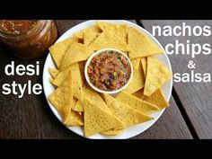 tortilla chips recipe, nachos chips recipe, mexican chips with step by step photo/video. easy snack chips recipe with the combination corn and wheat flour. Mexican Chips, Nacho Chips, Chips And Salsa, Tortilla Chips, Mexican Stuff, Jain Recipes, Mexican Food Recipes, Snack Recipes, Indian Recipes