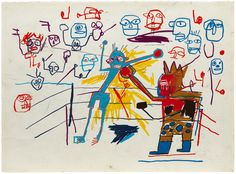 Untitled (Boxing Ring) Jean Michel Basquiat