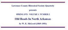 Migration routes into Arkansas