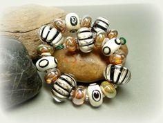 SRA Handmade Lampwork Beads - Harlequin