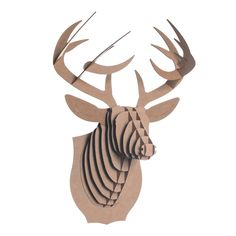 """Cardboard Safari deer head. I've got a few of these and """"mounted"""" them on my brick fireplace wall - look fantastic and no animals were harmed in making the product."""