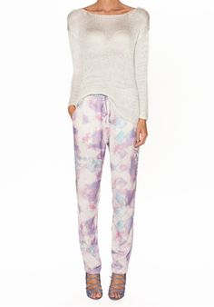 Isla by Talulah - LU06 THE HOLLY PANTS with LU08 THE JASMINE KNIT - this lightweight knit has a relaxed fit and a beautiful metallic lift in the silver colour, AU$139.95 Street Style Summer, Spring Trends, Lounge Pants, Jasmine, Spring Outfits, Spring Fashion, Knitwear, Metallic, Autumn