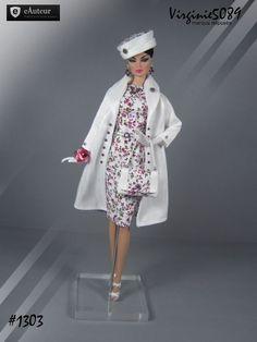tenue outfit + accessoires pour fashion royalty barbie silkstone  vintage #1303
