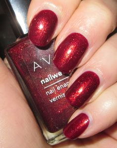 """Found this on """"Glitter is my crack...:"""" Nails/NOTD: Avon - Golden Wine  A great holiday nail color  Visit my Avon Shop at  www.youravon.com/monicac948"""