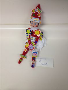 Elf on the Shelf at work. Quick, easy, and cheap.