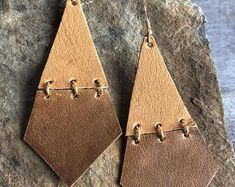 Hinged Leather Earrings