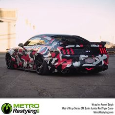 Metro Jumbo Red Tiger Camo car wrap is exclusively available at MetroRestyling. Wrap your vehicle. Vinyl Wrap Car, Vinyl For Cars, Camouflage Patterns, Top Cars, Car Painting, Car Wrap, Custom Cars, African Prints, African Fabric