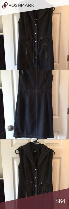 "NWT Dk indigo denim dress 2 Brand Premise size 2  80% polyester 16% rayon  4% spandex Bust 35"" Length 36"" Dresses Midi"