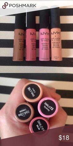 NYX Matte Lip Cream Bundle All have been opened, but I believe only 2 have been swatched NYX Makeup Lipstick
