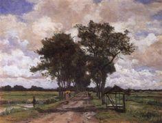 Wilhelm Bleckmann - Mensen op de Tangerangscheweg, Batavia (1885)