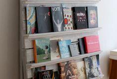 A pallet bookshelf
