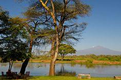 View of Mt Kilimanjaro from Voyager Ziwani Camp_Tsavo West