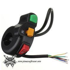 Piña de Luces interruptor Manillar 22mm Estilo Bobber Scrambler CafeRacer Luces Intermitentes Start -- 8,38€