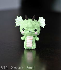 Amigurumi Dragon from All About Ami  #amigurumi #dragon #kawaii #cute #howto #tutorial #diy