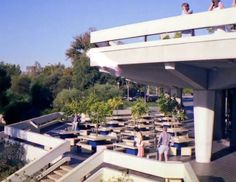 Outdoor deck on north east corner of Festival Centre before the banquet room was added - Sunday 15 April 1979