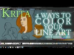 How to color your lineart in Krita - YouTube