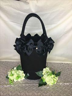 ♡丸底キャンバストートバッグ♡ #ブラック #black  #bag #ribbon  https://minne.com/@theshop