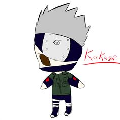 Kakashi I did from naruto. Chibi.