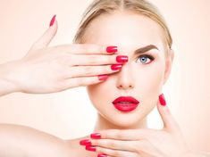 Get the beauty salon home and get yourself nails - Health Shares - Nagelmodelle - Nageldesign Natur Red Nails, Hair And Nails, Beauty Makeup, Eye Makeup, Dark Eyebrows, Strong Nails, Fair Skin, Beauty Quotes, Beauty Blender