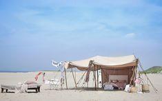tent aan het strand Styling: Cleo Scheulderman photo: Jeroen van der Spek made @vtwonen
