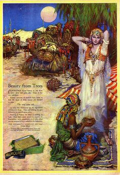 Palmolive Soap Ad by Willy Pogany, 1925