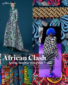 Spring/Summer 2020 Print & Pattern Trend African Clash - 2020 Fashions Woman's and Man's Trends 2020 Jewelry trends 2020 Fashion Trends, Spring Fashion Trends, Summer Fashion Outfits, Pattern Bank, Fashion Forecasting, Spring Summer Trends, Summer Patterns, Print Patterns, Pattern Print