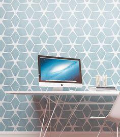 Wall Painting Stencil - Modern Geometric Pattern Stencil - Seamless Wa – StencilsLab Wall Stencils