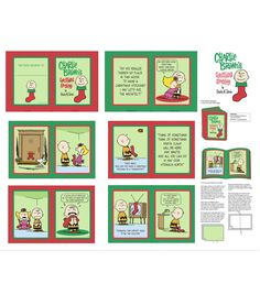 Holiday Inspirations Fabric-Christmas 36 In Peanuts Christmas Bk Pnl