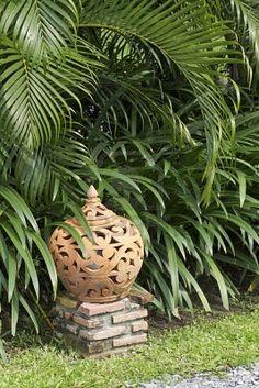 A Thai terracotta lantern