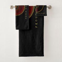 SHIELDMAIDEN  PROUD WARRIORS BATH TOWEL SET - home gifts cool custom diy cyo