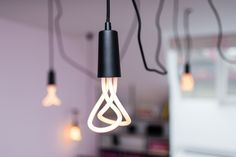 Lighting - bulb on textile cable