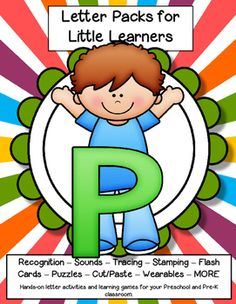 LETTER P - Letters for little learners pack – 62 pg. - recognition, sound, tracing and craftivities. Low prep. Appropriate for pre-readers.