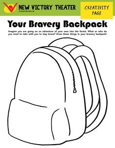 What do you need in your Bravery Backpack to stay brave during your forest adventure?