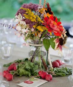 veggie centerpieces - wedding #dreamwedding #ruchebridal