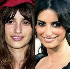 El antes y despues de los famosos...